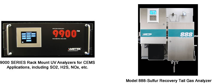9000 Serioes Rack Mount UV Analyzers for CEMS Applications & Model 880 Tall Gas Analyzer for Claus SRU